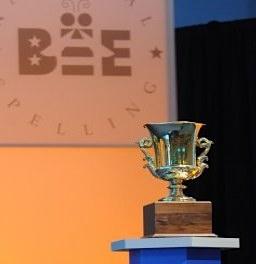 photo of spelling bee trophy via Scripps
