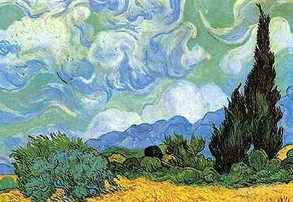 Wheatfields With Cypresses - cropped