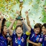 FIFA photo of Japanese women's team in celebration