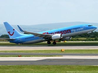 Thomson airline jet