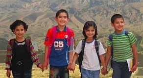 kids from Afghan Child Education and Care Organization