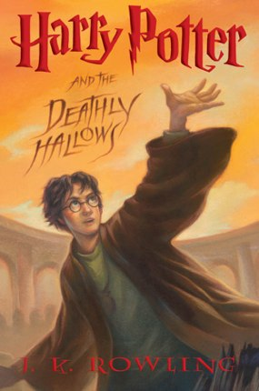 Harry Potter, Deathly Hallows -book cover