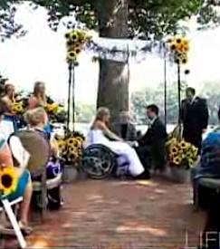wedding wheelchair bride, via home video