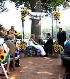 wedding wheelchair bride, via home video
