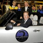 David Cameron in Mini Cooper