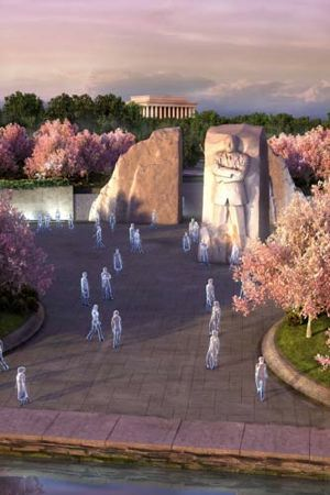 MLK memorial design drawing