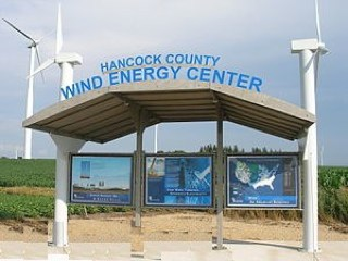 Hancock County, Iowa Visitor's kiosk - by Tim Fuller