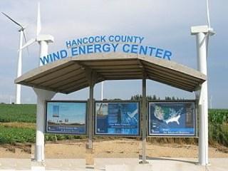 Hancock County, Iowa Visitor's kiosk - by Tim Fuller
