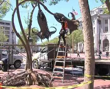 art installation in SF by Burning Man group - KTVU video