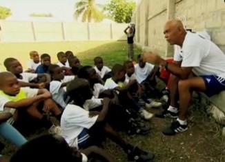 CNN Hero with kids he mentors through soccer