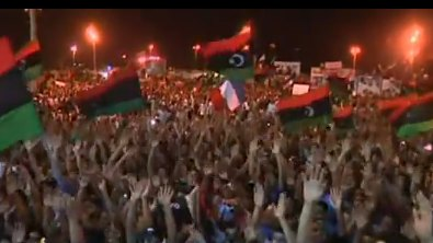 Libyan rally al Jazeera video