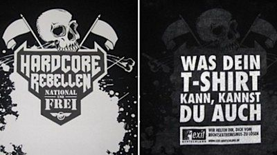 Neo-Nazi t-shirt dupe: before and after