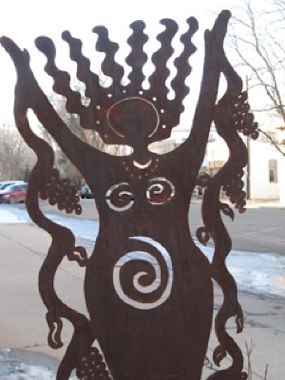 woman's sculpture in Colorado
