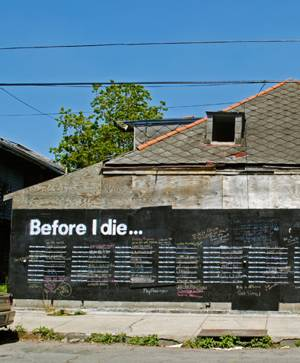 Before-I-Die chalkboard house Civic Center