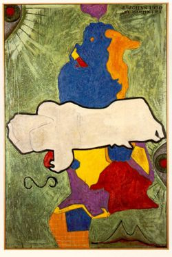 Painting by Jasper Johns, an artist included in Haitian relief auction