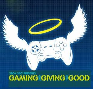 Gaming and Giving for Good (logo mashup)