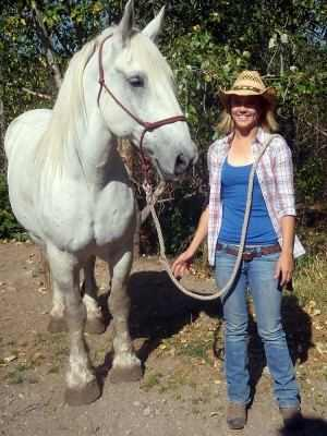 horse and cowgirl - courtesy of Swan Mountain Outfitters
