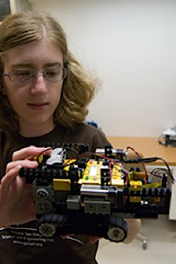 Photo: Lego robot sniffs checmicals - UCSD News