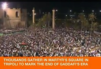 Photo: Martyrs Square - Al Jazeera video clip