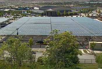 solar panels on school property - CNN video