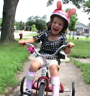 tricycle-riding disabled child- ABC News video clip