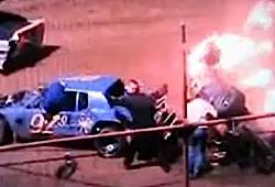 Car race fire screenshot