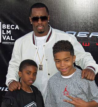 Sean Combs with kids, by David Shankbone - GNU