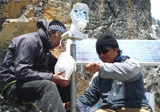 Web-cam on Mt Everest Mobotix photo