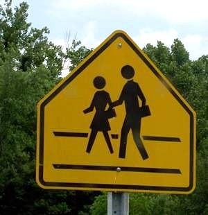 crossing school sign- by jdurham Morguefile