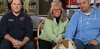 firefighter w/ rescued lab NBC video clip
