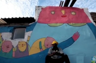 whimsical mural in South Africa - CNN video snippet