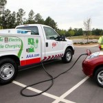 AAA mobile EV charging truck