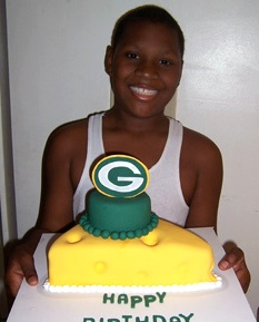 Sweet Blessings birthday cake for sports fan