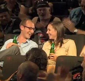 Carlsburg Ad celebrates film-going couple w/ beers
