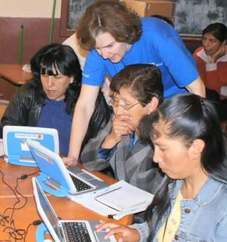 Computer class in Asia - Intel photo