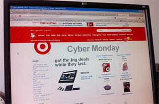 Cyber Monday webpage from Target