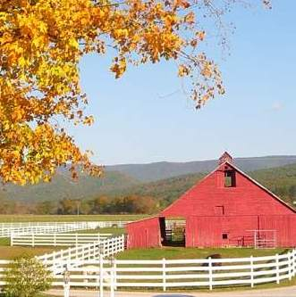Farm in autumn WV