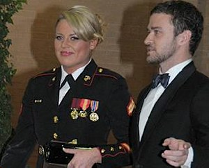 Justin Timberlake attends Marine Corps ball -NBC video clip