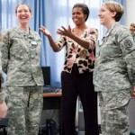 Michelle Obama with Soldiers - WH photo