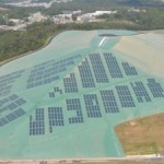 Solar-powered landfill with geomembrane