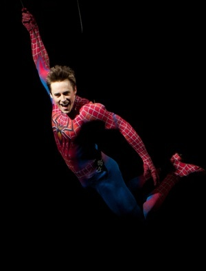 Spiderman production photo from Broadway