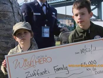 military donations from Wish Upon A Hero