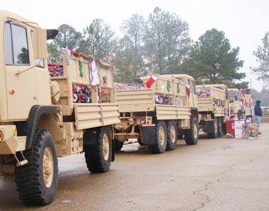 Army trucks in Texas - DOD photo