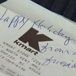 Cash register receipt from Secret Santa