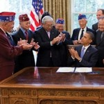 Japanese-American Vets with Obama - White House