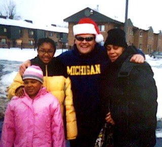 Santa to Detroit projects Mike Chase -family photo