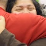 Secret Santa gets hug in Reading, PA