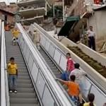 escalator in Colombia helps poor