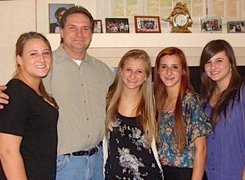 Policeman, Peter Figoski, and his girls