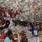 Dollars cover walls of diner